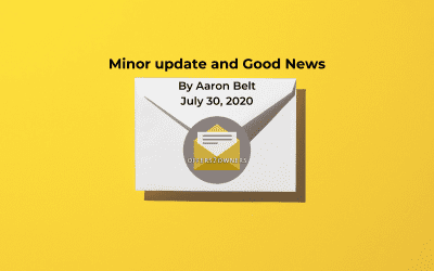Minor update and Good News